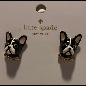Kate Spade 'Ma Cherie' adorable Frenchie earrings!